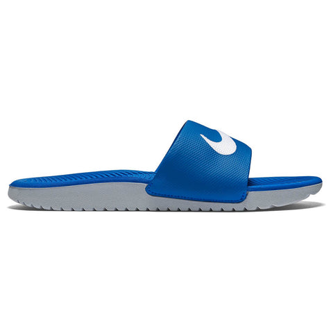 NIKE JUNIOR KAWA SLIDE ROYAL/WHITE