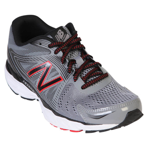 NEW BALANCE MEN'S M680 V4 RUNNING SHOE STEEL/BLACK/ALPHA RED