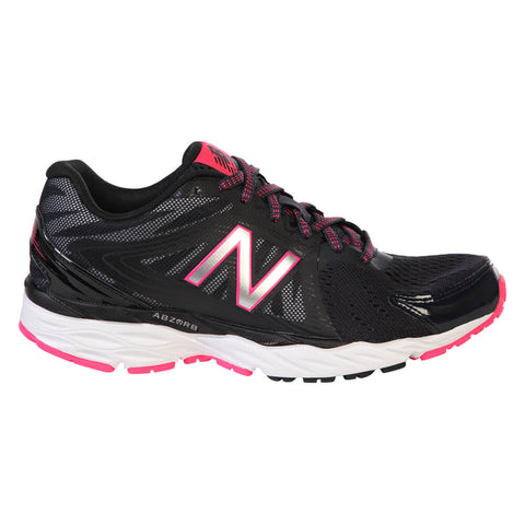 NEW BALANCE WOMEN'S W680 V4 RUNNING SHOE BLACK/WHITE/PINK