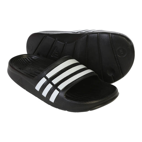 ADIDAS BOYS DURAMO SLIDE BLACK/WHITE