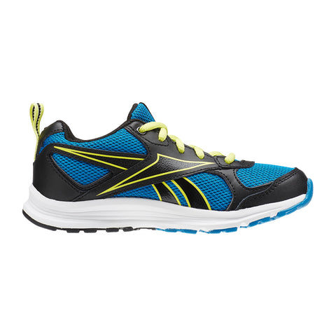 REEBOK BOYS PRE-SCHOOL ALMOTIO RS KIDS SHOE BLUE/BLACK/YELLOW