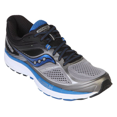 SAUCONY MEN'S GUIDE 10 GREY/BLACK/BLUE