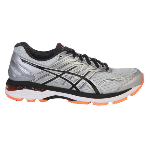 ASICS MEN'S GT-2000 5 SILVER/BLACK/ORANGE