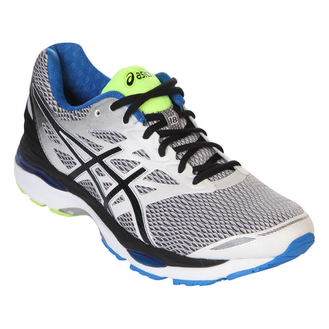 ASICS MEN'S GEL CUMULUS 18 RUNNING SHOE WHITE/BLACK/BLUE