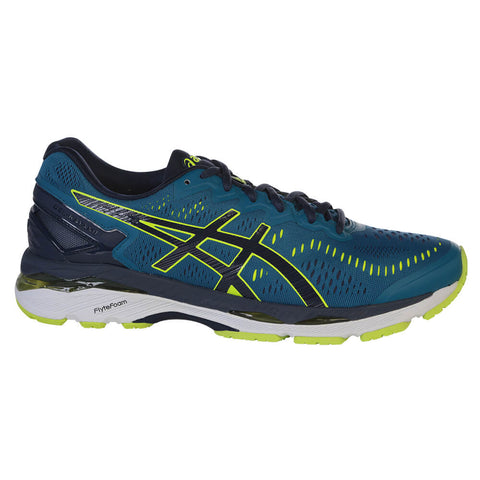 ASICS MEN'S KAYANO 23 RUNNING SHOE BLUE/YELLOW/BLUE
