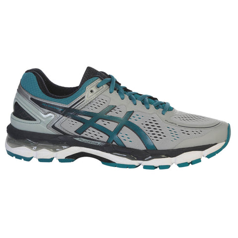 ASICS MEN'S GEL KAYANO 22 RUNNING SHOE  GREY/OCEAN/SKY
