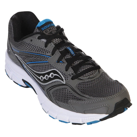 SAUCONY MEN'S EXITE 8 RUNNING SHOE GREY/BLACK/BLUE