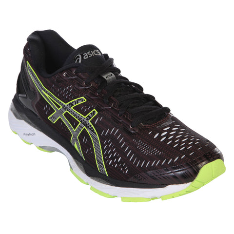ASICS MEN'S GEL KAYANO 23 LITE SHOW RIOJA RED/BLACK/SULPHUR SPRING