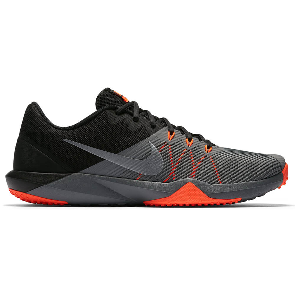 136af682c401b4 NIKE MEN S RETALIATION TR TRAINING SHOE GREY BLACK ORANGE ...