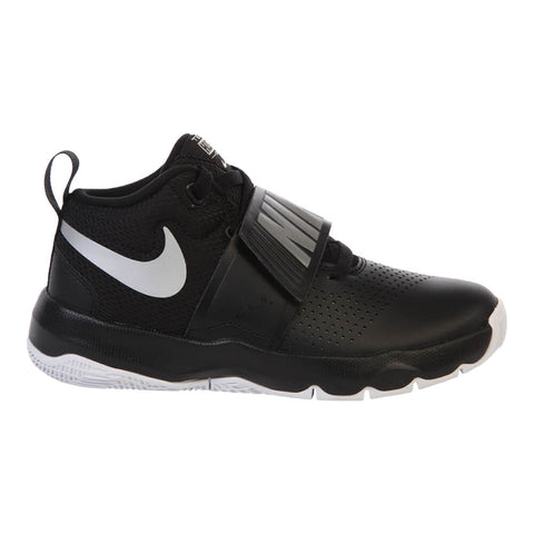 NIKE BOYS GRADE SCHOOL TEAM HUSTLE D8 KIDS SHOE BLACK/WHITE