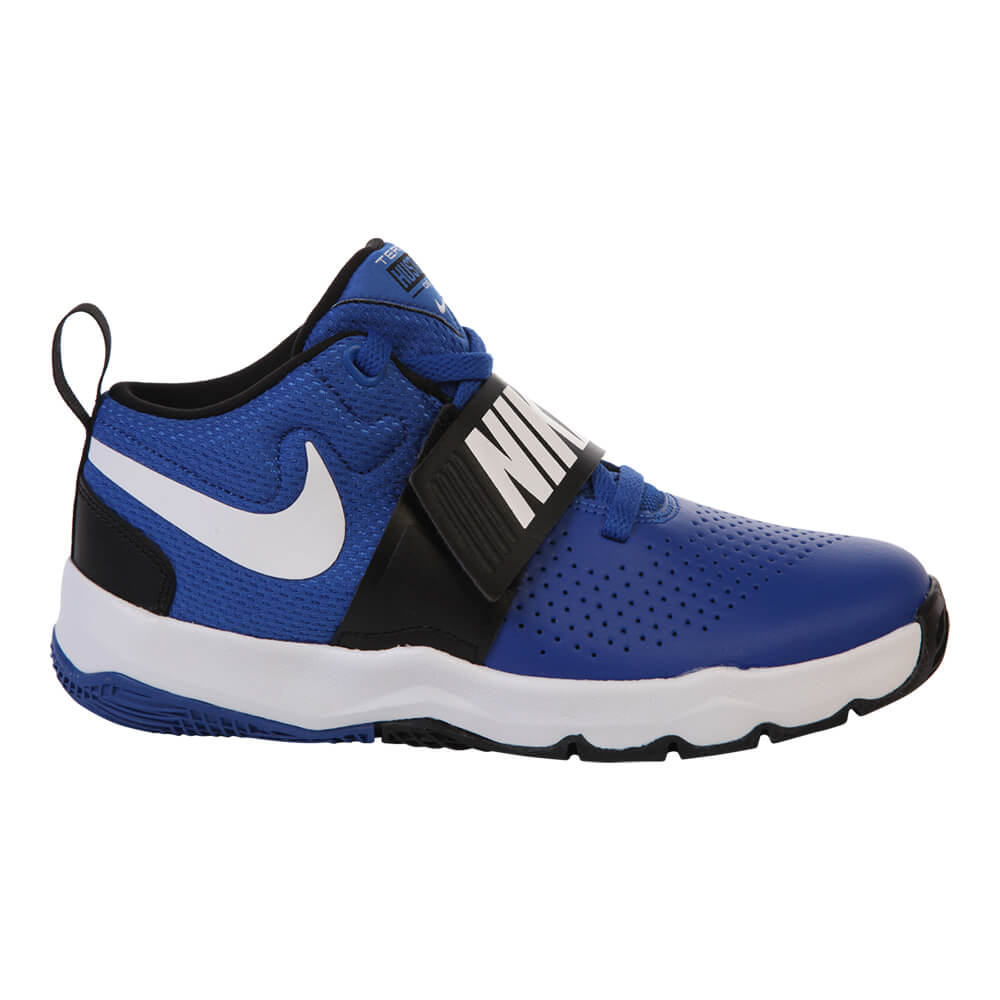 NIKE BOYS PRE-SCHOOL TEAM HUSTLE D8 ROYAL/WHITE/BLACK