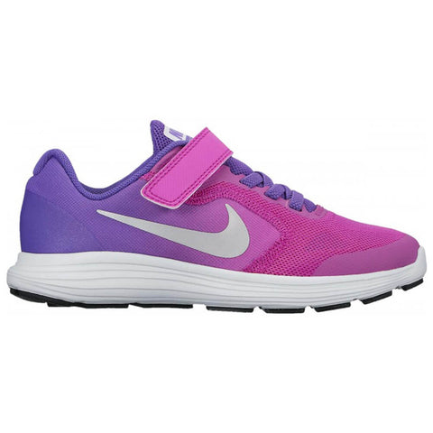 NIKE GIRLS PRE-SCHOOL REVOLUTION 3 KIDS SHOE HYPER GRAPE