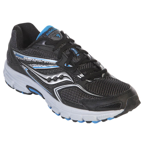 SAUCONY MEN'S COHESION TR9 RUNNING SHOE BLACK/ROYAL