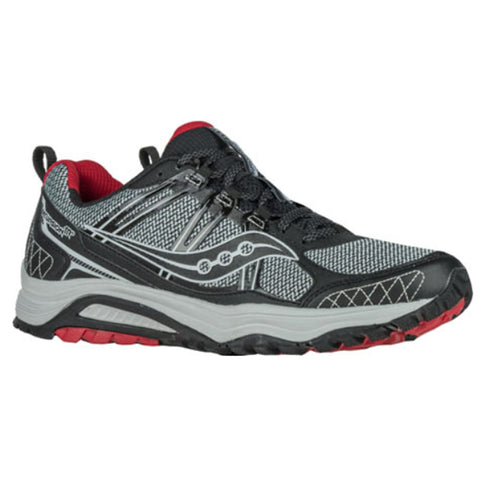 SAUCONY MEN'S EXCURSION TR10 TRAIL RUNNING SHOE GREY/BLACK/RED
