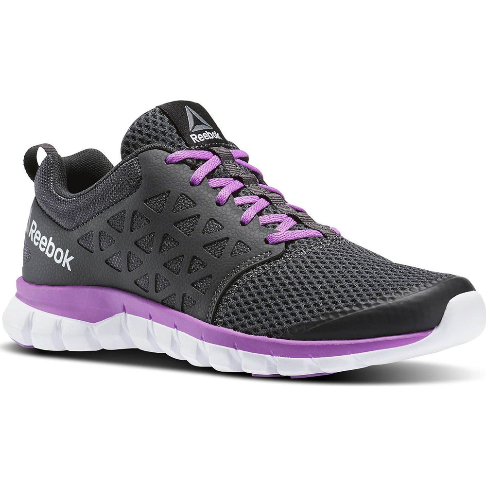 645996a0edf REEBOK WOMEN S SUBLITE XT CUSHION 2.0 RUNNING SHOE COAL VIOLET WHITE ...