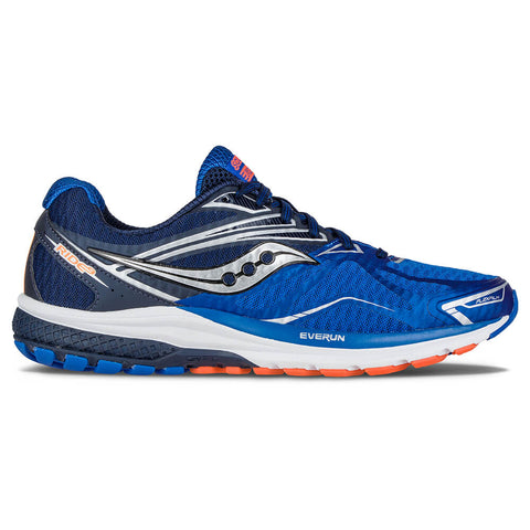SAUCONY MEN'S RIDE 9 RUNNING SHOE BLUE/ORANGE