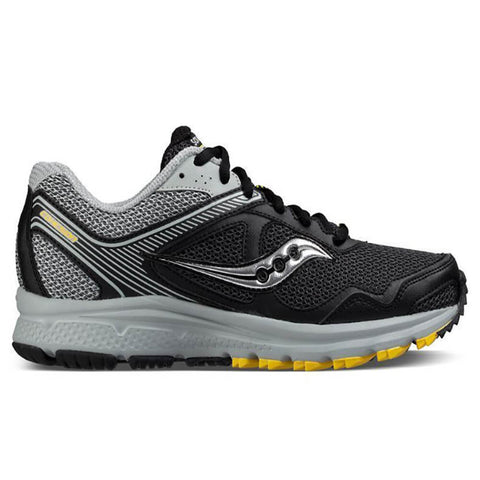 SAUCONY MEN'S COHESION TR 10 RUNNING SHOE  BLACK/GREY/YELLOW