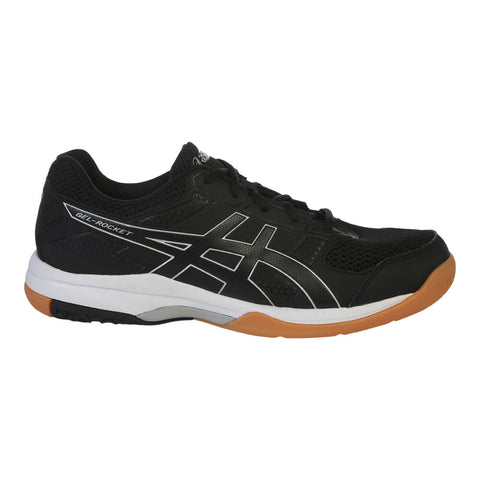 ASICS MEN'S GEL ROCKET 8 COURT SHOE BLACK/BLACK/WHITE