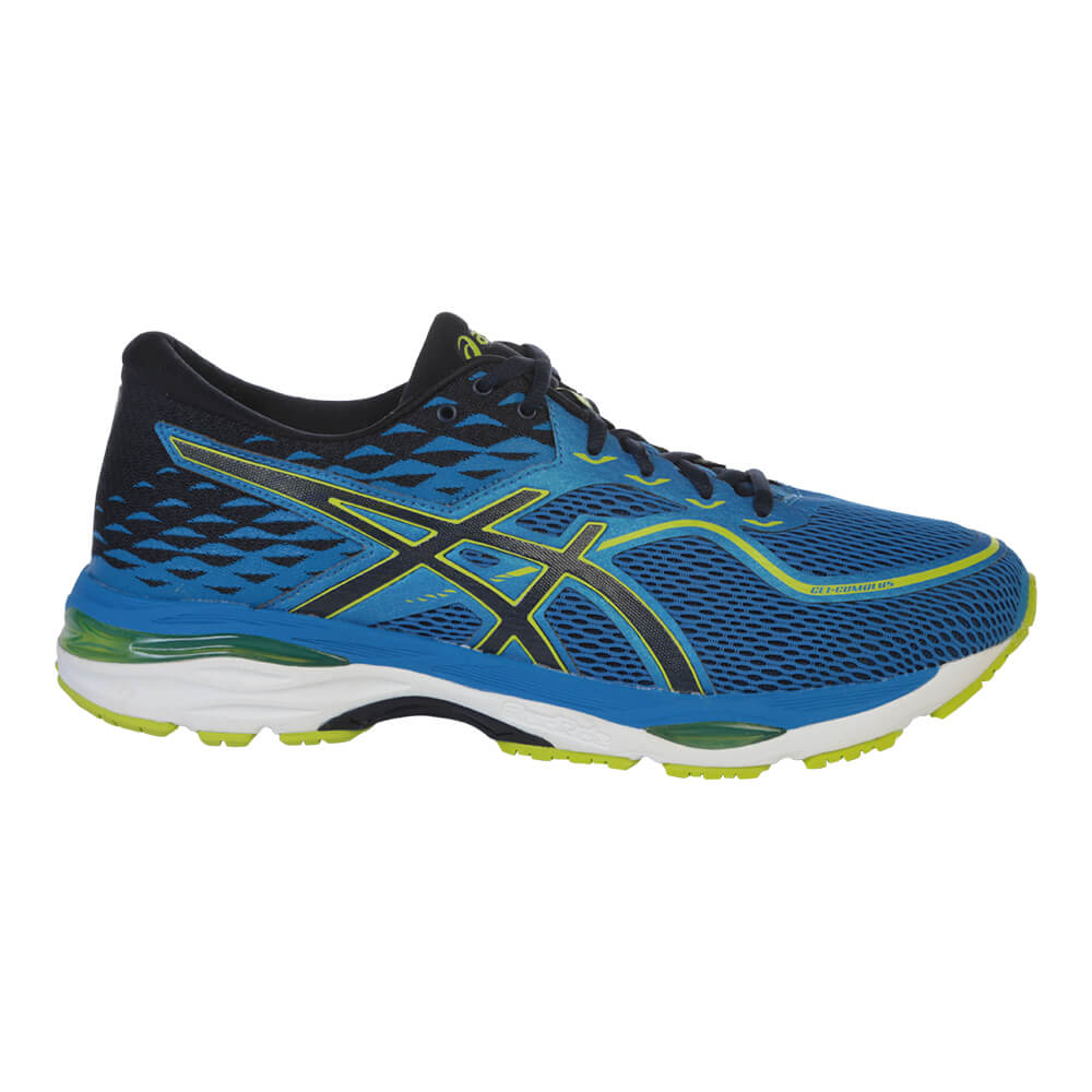 2cb05292b ASICS MEN'S GEL CUMULUS 19 RUNNING SHOE BLUE/BLUE/YELLOW – National ...