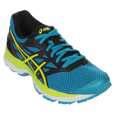 ASICS BOYS GRADE SCHOOL GEL CUMULUS 18 JUNIOR SHOE ISLAND BLUE/SAFETY YELLOW/BLACK