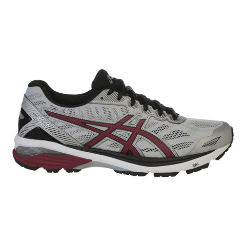 ASICS MEN'S GT-1000 5 RUNNING SHOE GLACIER GREY/POMEGRANATE/BLACK