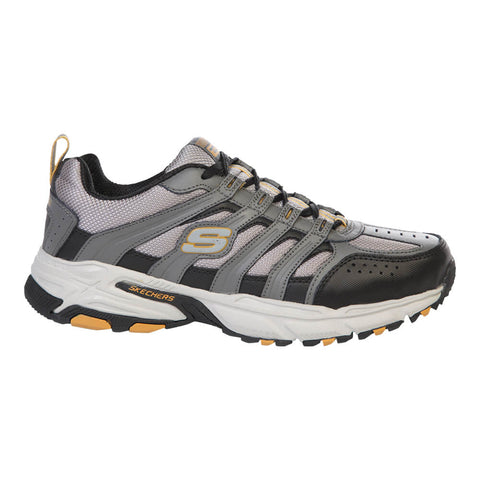 SKECHERS MEN'S  STAMINA PLUS - RAPPEL RUNNING SHOE GREY/BLACK