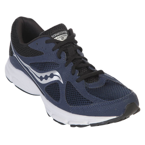 SAUCONY MEN'S MS LEXICON RUNNER NAVY/BLACK/SILVER