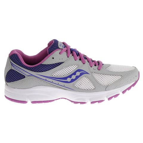 SAUCONY WOMEN'S LEXICON RUNNER SILVER/WHITE/BERRY