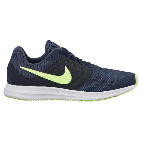 NIKE BOYS GRADE SCHOOL  DOWNSHIFTER 7 KIDS SHOE  BLUE/VOLT/OBSIDIAN