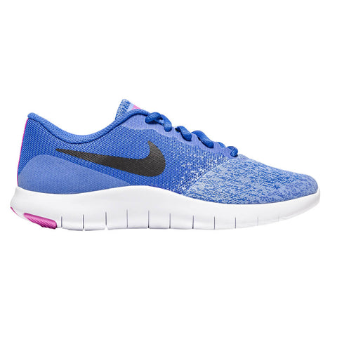 NIKE GIRLS GRADE SCHOOL FLEX CONTACT KIDS SHOE ROYAL/BLACK