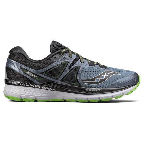SAUCONY MEN'S TRIUMPH ISO 3 GREY/BLACK/SLIME