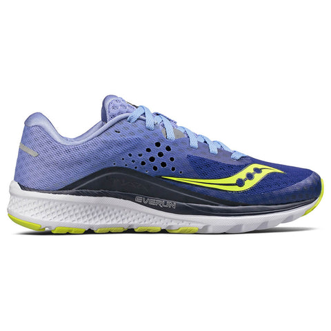 SAUCONY WOMEN'S KINVARA 8 RUNNING SHOE NAVY/PURPLE