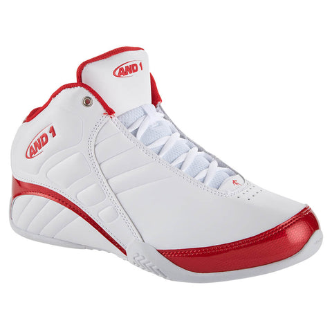AND 1 MEN'S ROCKET 3.0 BASKETBALL SHOE WHITE/RED