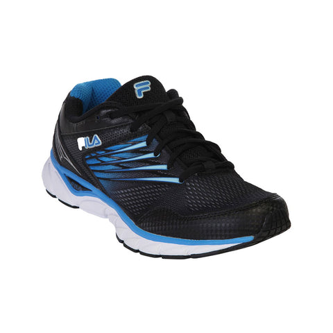 FILA MEN'S MEMORY ARIZER 3 RUNNING SHOE BLACK/ELECTRIC BLUE LEMONADE/SILVER
