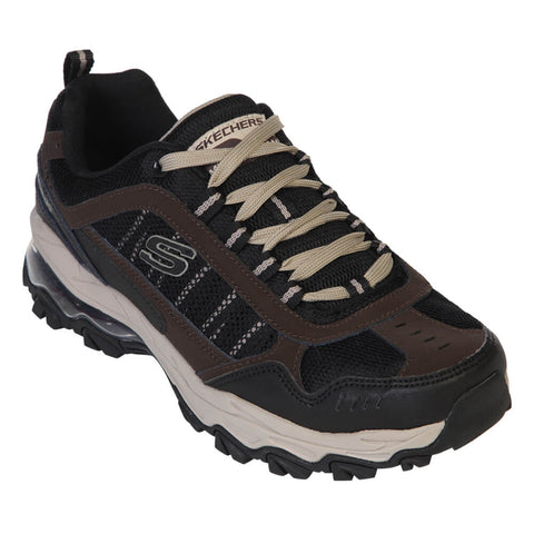 SKECHERS MEN'S M-FIT AIR BLACK/BROWN