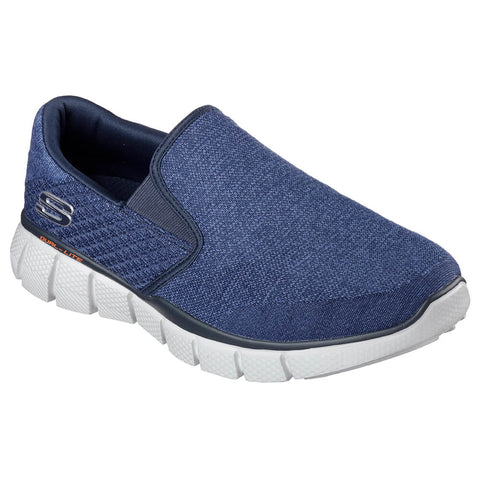 SKECHERS MEN'S EQUALIZER 2.0 LIFESTYLE SHOE  NAVY/WHT