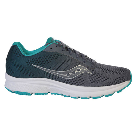 SAUCONY WOMEN'S NOVA RUNNING SHOE GREY/TEAL