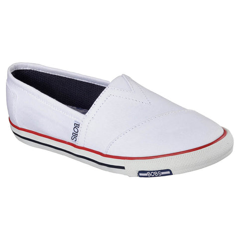 SKECHERS WOMEN'S LOTOPIA - PLEASANTVILLE LIFESTYLE SHOE WHITE/NAVY/RED