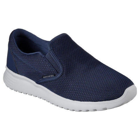 SKECHERS MEN'S ZIMSEY LIFESTYLE SHOE NAVY MESH