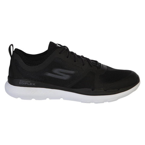 SKECHERS MEN'S GO FLEX TRAIN - CONQUER BLACK/WHITE