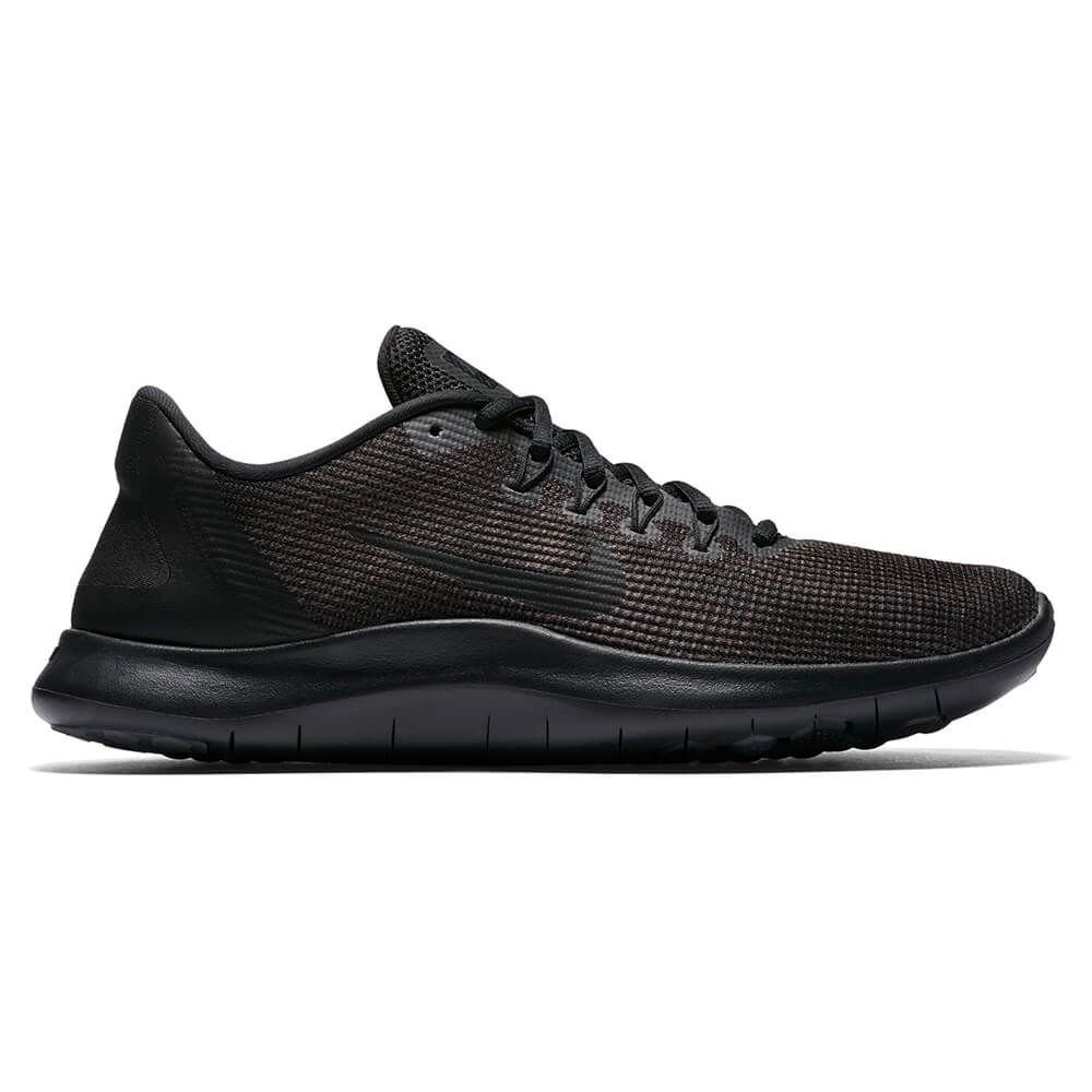 d186a743b319 NIKE MEN S FLEX RN 2018 RUNNING SHOE BLACK GREY – National Sports