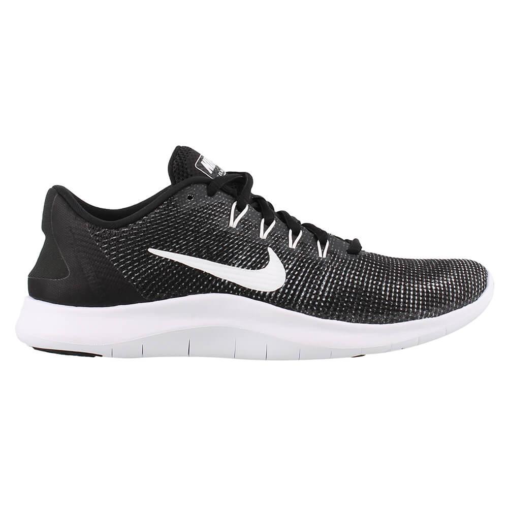 c83c29439a0c NIKE WOMEN S FLEX RN 2018 RUNNING SHOE BLACK WHITE – National Sports