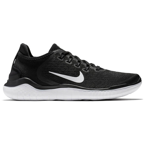 450542fb636 NIKE WOMEN S FREE RN 2018 RUNNING SHOE BLACK WHITE ...