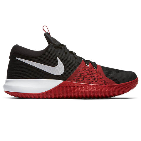 NIKE MEN'S  ZOOM ASSERSION BASKETBALL SHOE BLACK/WHITE/GYM RED