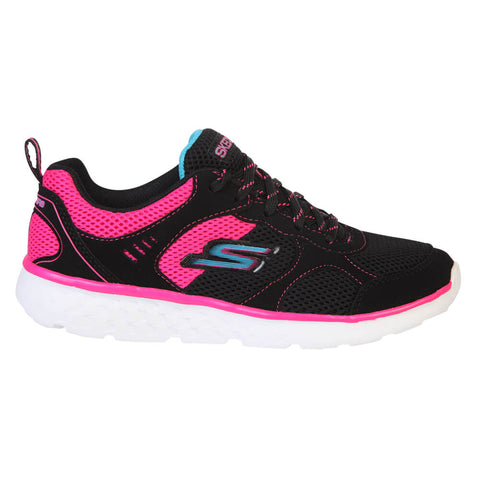 SKECHERS GIRLS GRADE SCHOOL/PRE-SCHOOL GO RUN 400 BLACK/PINK