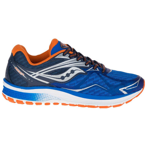 SAUCONY BOYS GRADE SCHOOL/PRE-SCHOOL RIDE 9 BLUE/ORANGE