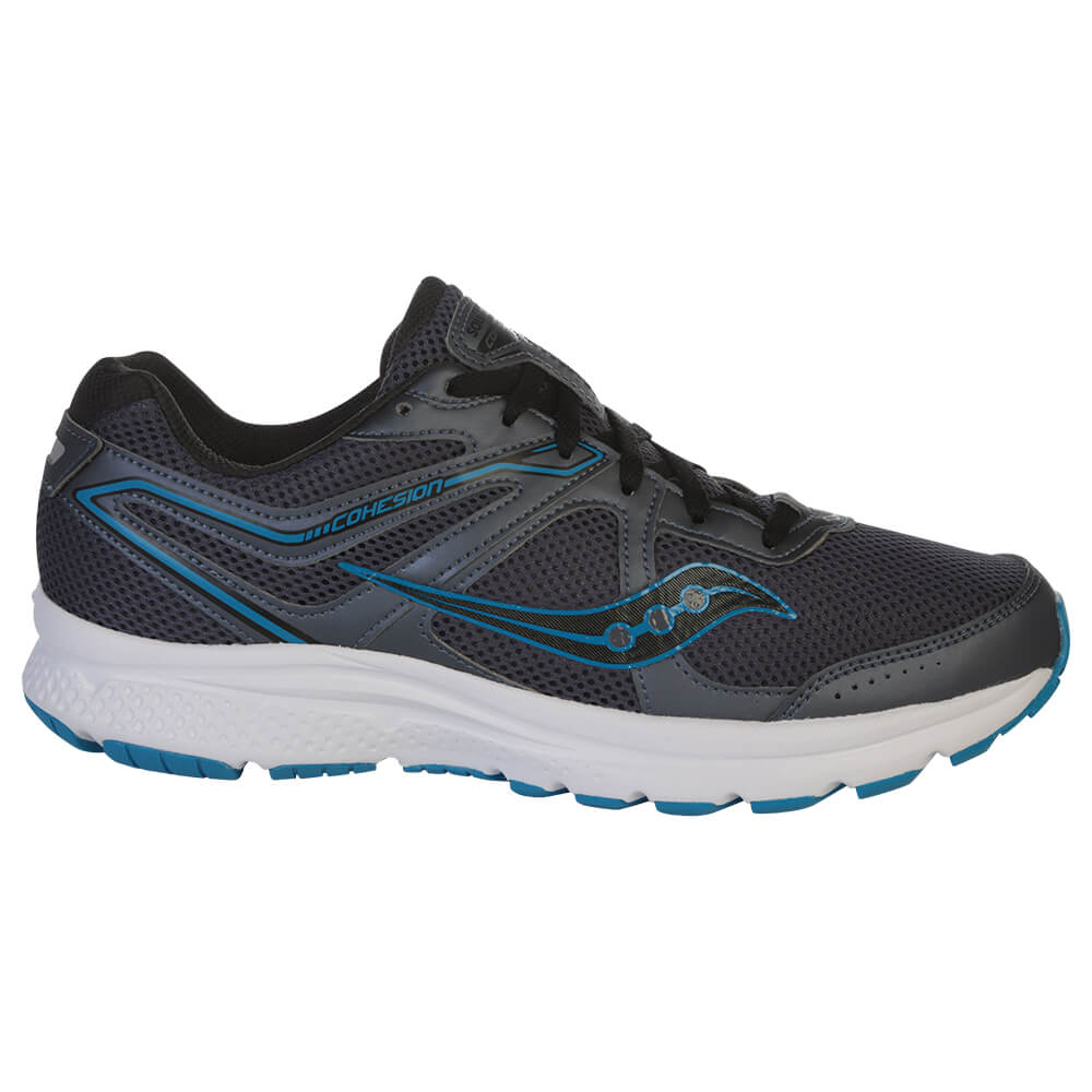 SAUCONY MEN'S COHESION 11 RUNNING SHOE GREY/BLUE