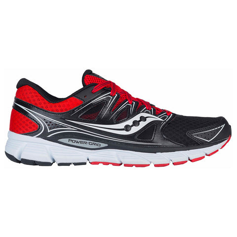 SAUCONY MEN'S TORNADO 6 RUNNING SHOE BLACK/RED