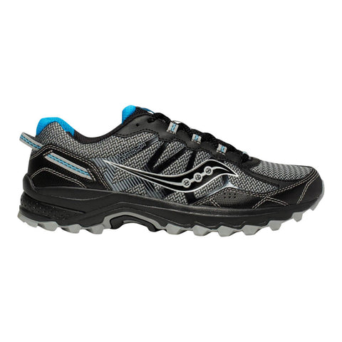 SAUCONY MEN'S EXCURSION TR 11 RUNNING SHOE BLACK/BLUE
