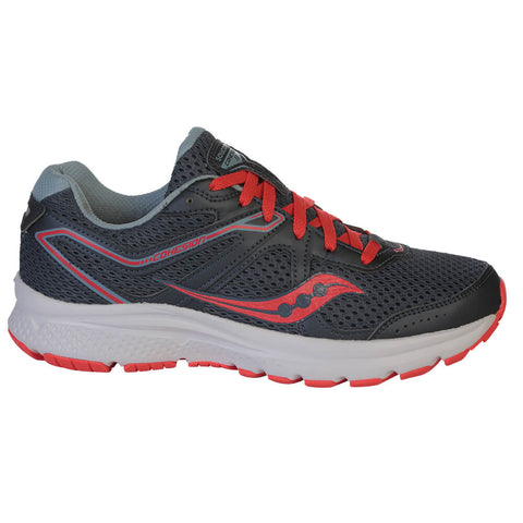 SAUCONY WOMEN'S COHESION 11 RUNNING SHOE GREY/RED